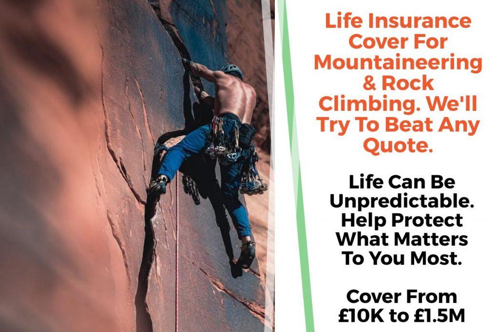 rock climbing life insurance