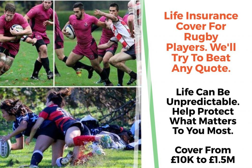 rugby players life insurance