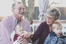grandparents with kids photo