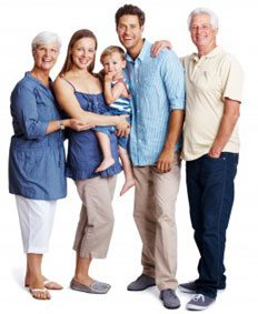 happy family group photo